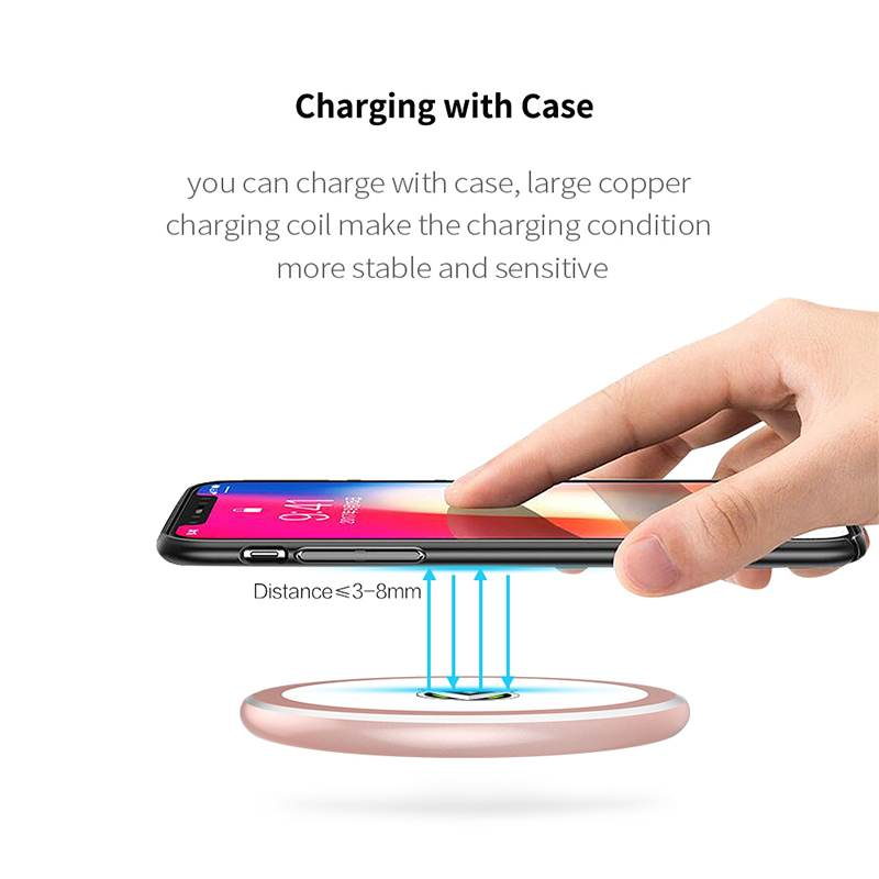 Led Makeup Mirror Wireless Charger